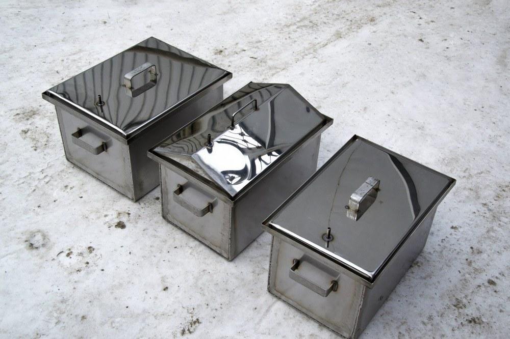 Коптильня для горячего копчения из металла своими руками